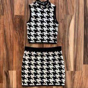 Forever21 Two Piece Houndstooth Outfit